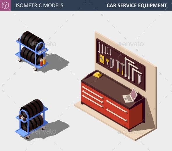 Car Service Equipment Set - Man-made Objects Objects