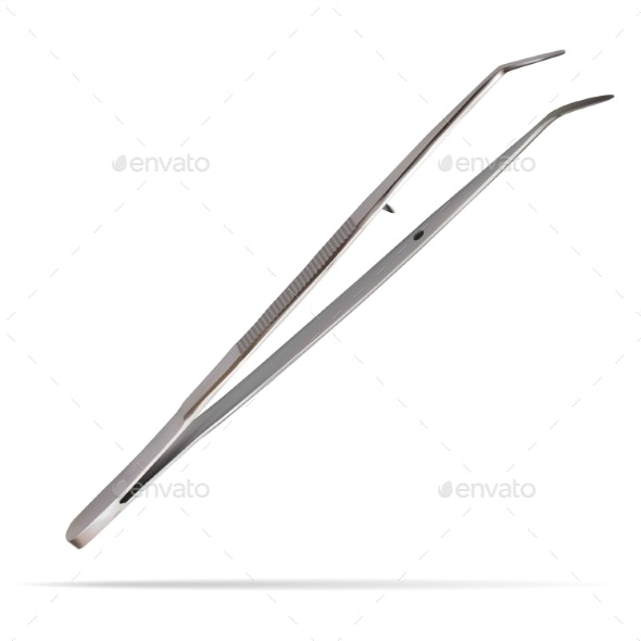 Dental Forceps Curved Intended for Use - Health/Medicine Conceptual
