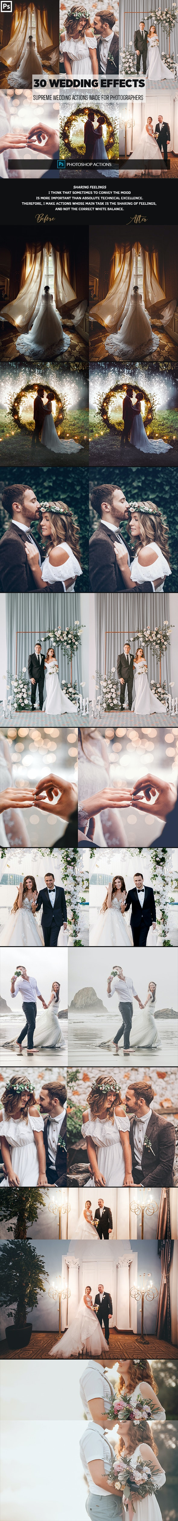 30 Wedding Photoshop Effects - Photo Effects Actions