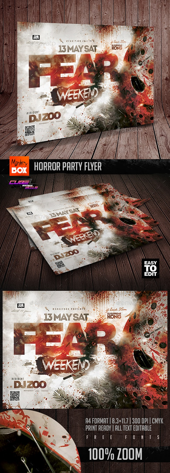 Horror Party Flyer - Clubs & Parties Events