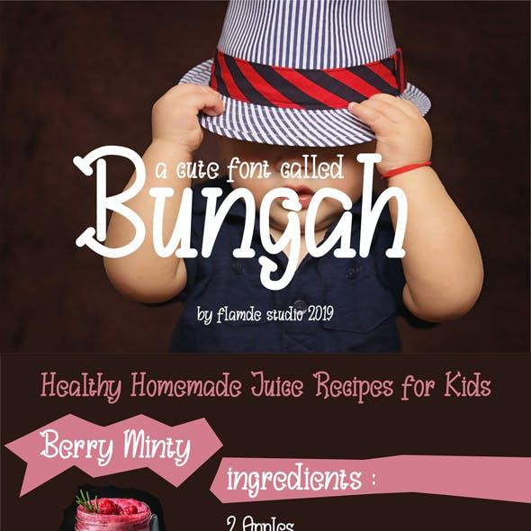 Bungah | Cute Font
