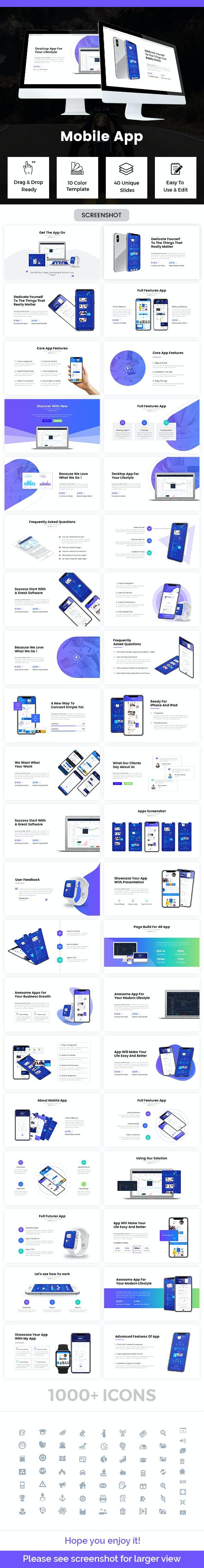 Mobile App Keynote Template 2019 - Business Keynote Templates