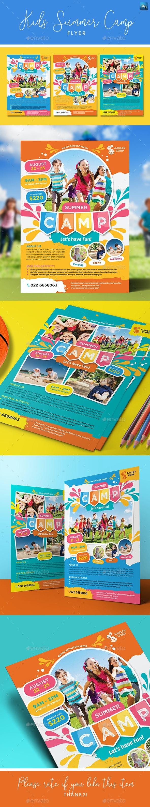 Kids Summer Camp Flyer - Holidays Events