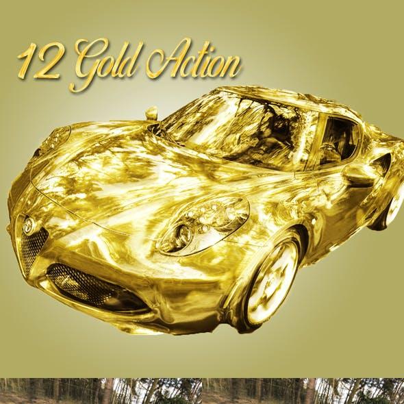 Amazing 12 Gold Photoshop Action