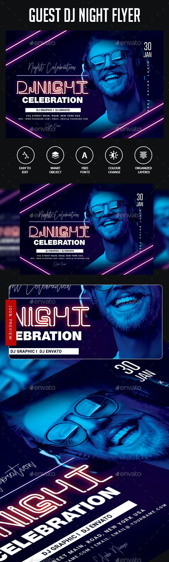 Club Flyer Poster - Clubs & Parties Events