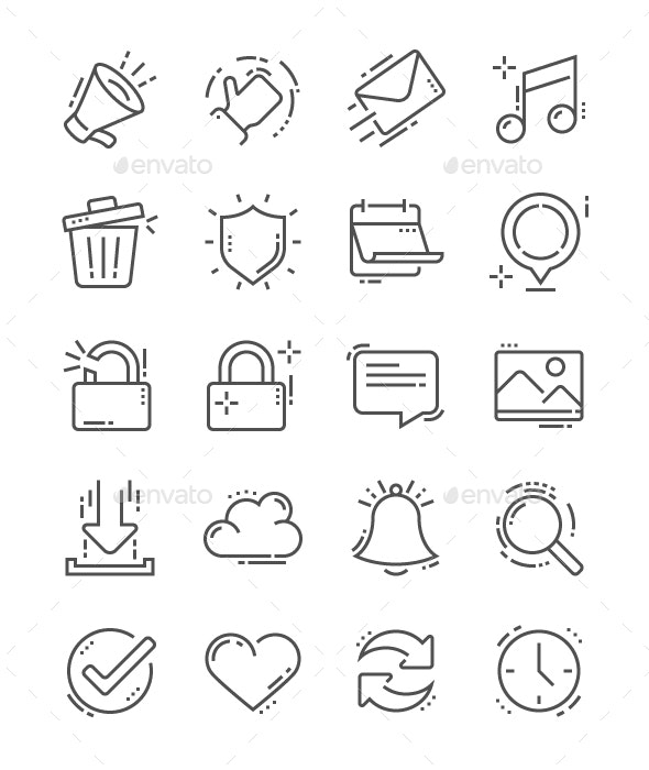 General Line Icons - Business Icons