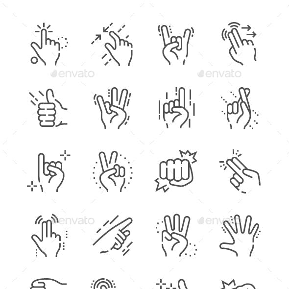 Gesture Line Icons