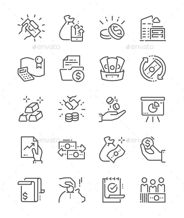 Finance Line Icons - Business Icons