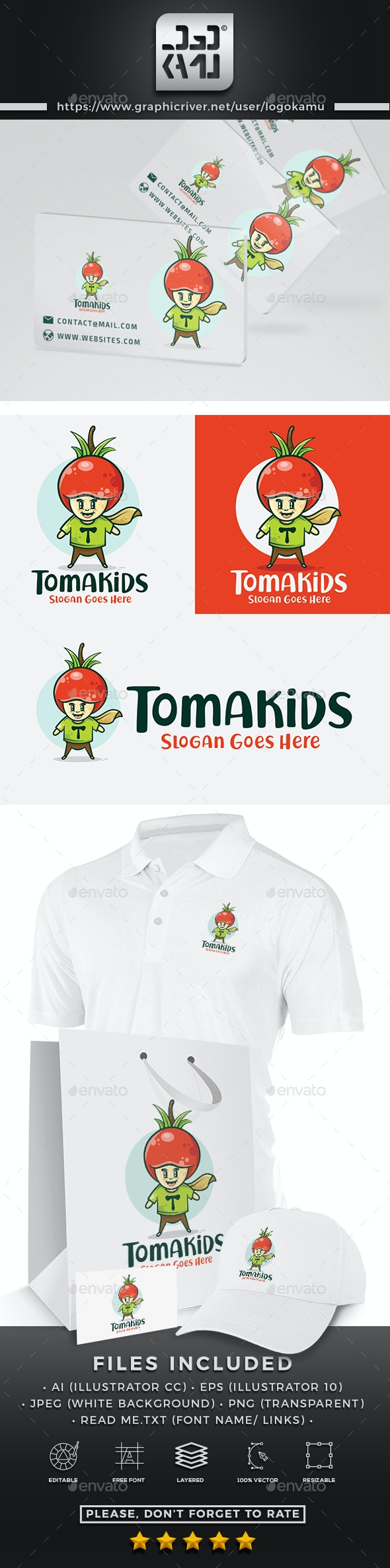 Tomato Kids Logo - Humans Logo Templates