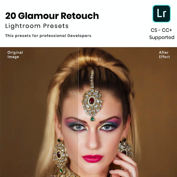20 Glamour  Retouch Lightroom Presets