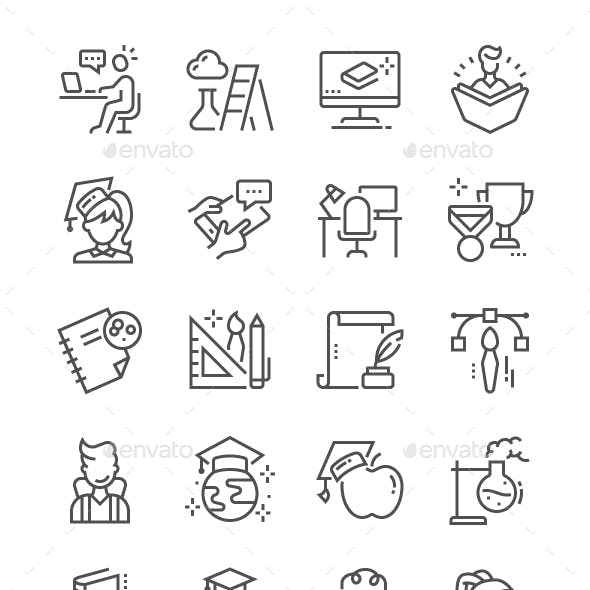 Education Line Icons