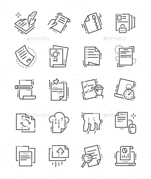 File Line Icons - Business Icons