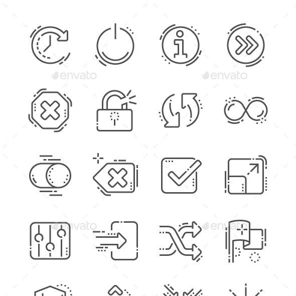 Control Line Icons