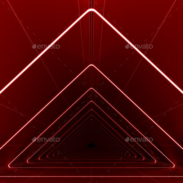 Red Triangle Background