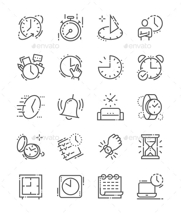 Time Line Icons - Business Icons