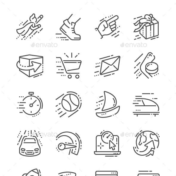Speed Line Icons