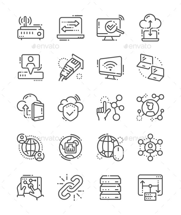 Network Line Icons - Web Icons