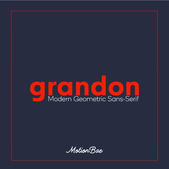 Grandon Geometric Sans Font