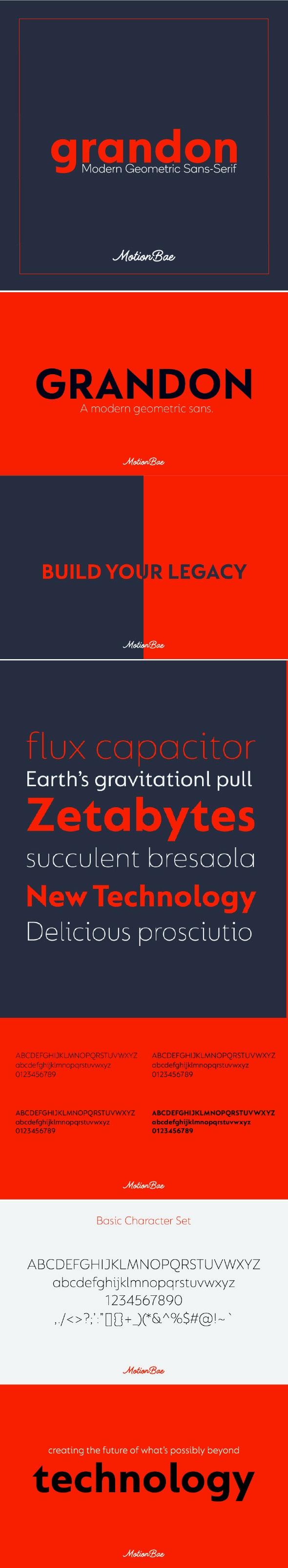 Grandon Geometric Sans Font - Miscellaneous Sans-Serif