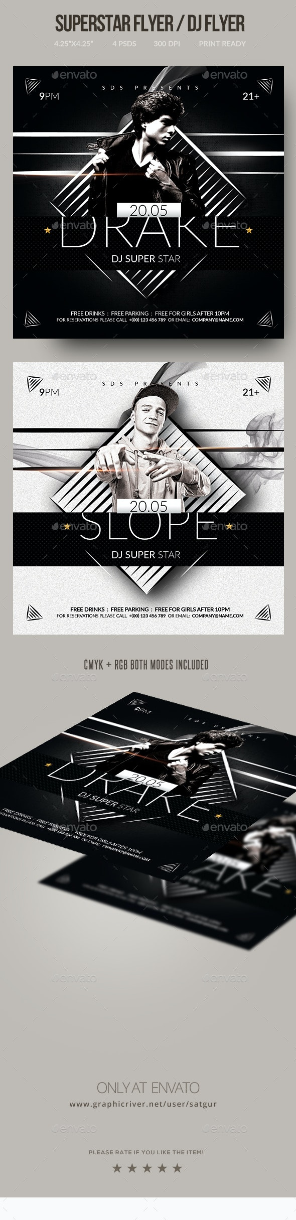 DJ Flyer / Superstar Flyer - Clubs & Parties Events