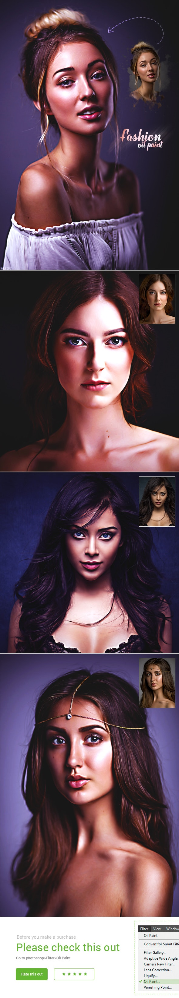 Fashion Oil Paint - Photo Effects Actions