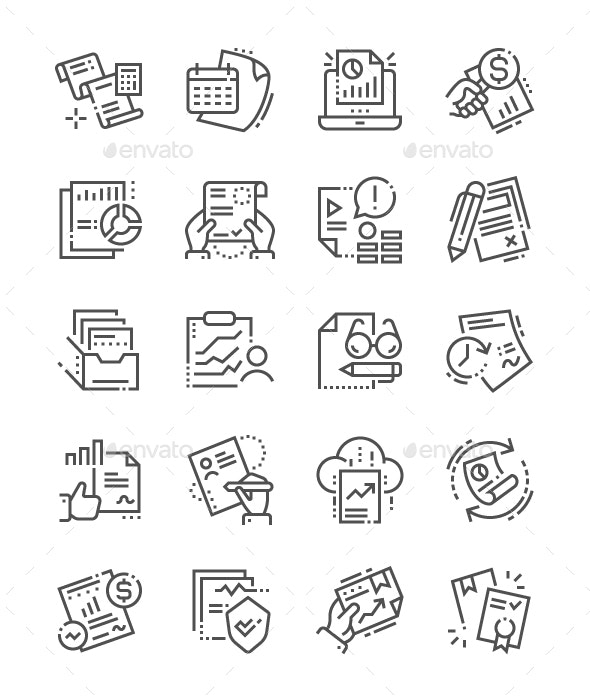 Report Line Icons - Media Icons