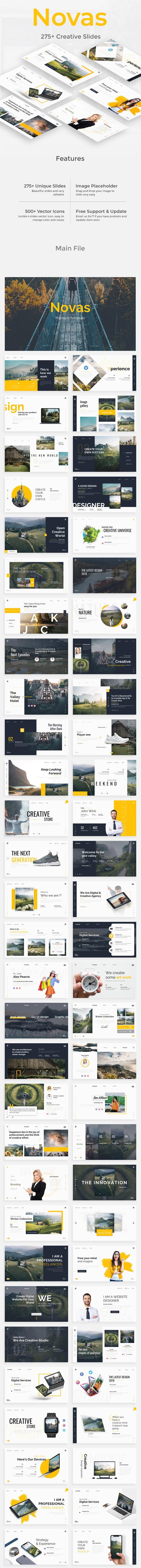 Novas Premium Keynote Template - Creative Keynote Templates