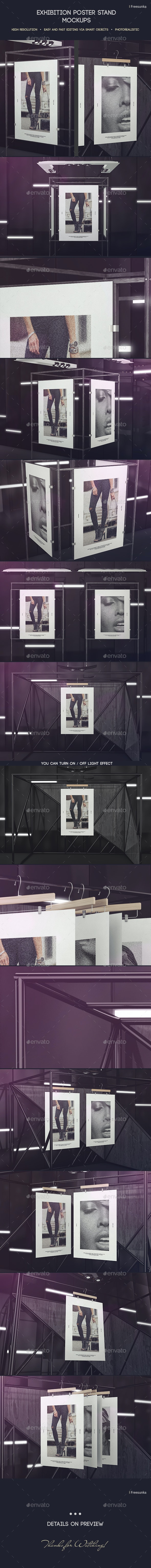 Exhibition Poster Stand Mockups - Posters Print