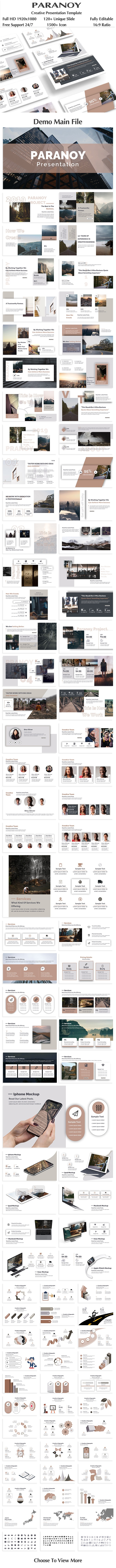Paranoy Creative PowerPoint Template - Creative PowerPoint Templates