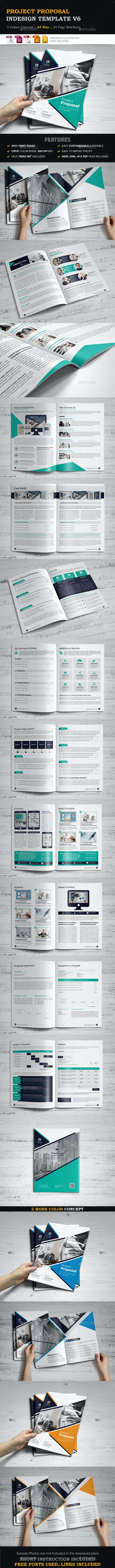 Project Proposal InDesign Template v6 - Proposals & Invoices Stationery