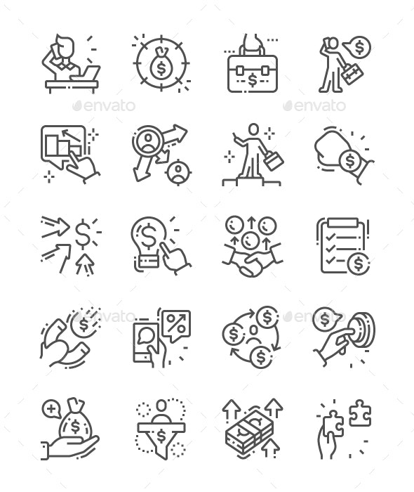 Entrepreneur Line Icons - Business Icons