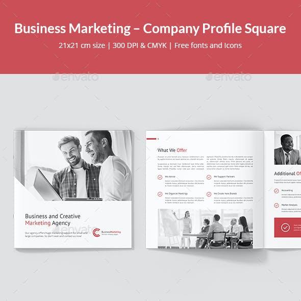 Business Marketing – Company Profile Square