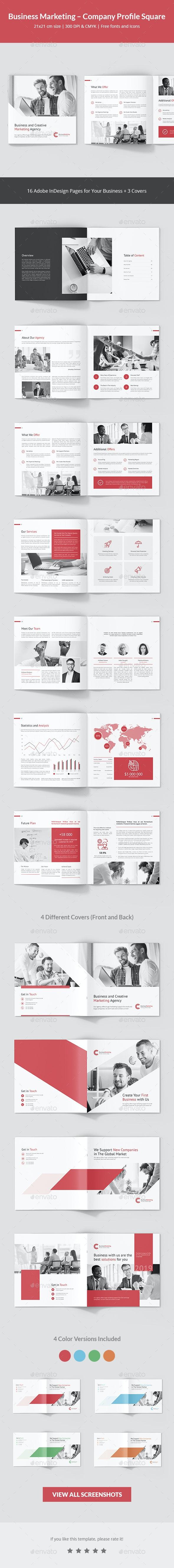 Business Marketing – Company Profile Square - Corporate Brochures