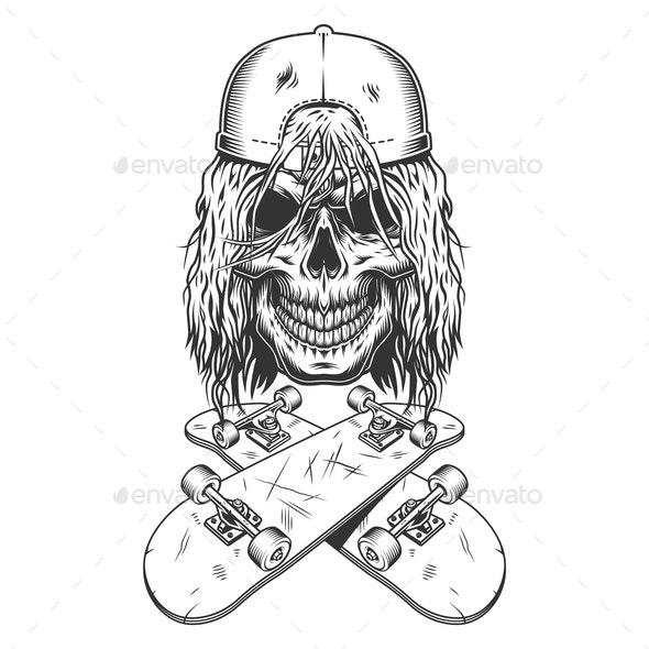 Vintage Skateboarder - Sports/Activity Conceptual