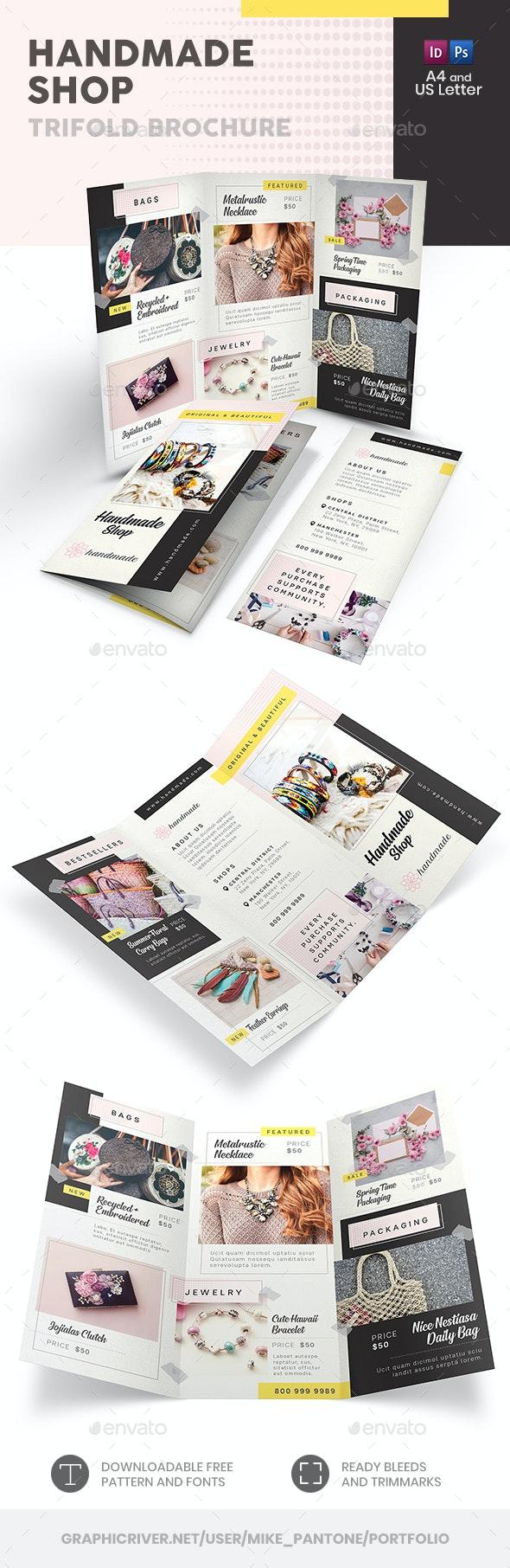 Handmade Shop Trifold Brochure 2 - Informational Brochures