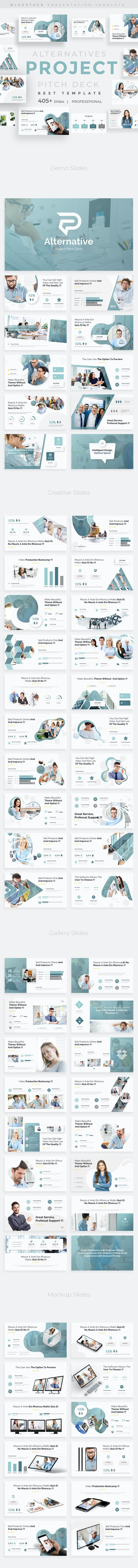 Project Alternatives Pitch Deck Powerpoint Template - Business PowerPoint Templates