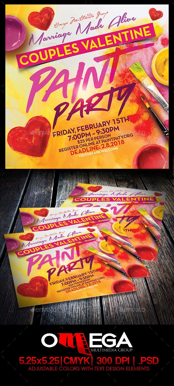 Couples Paint Party - Events Flyers