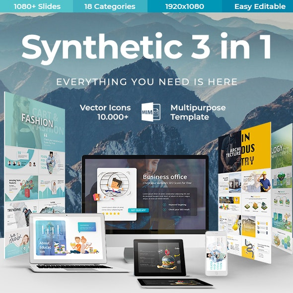 Synthetic 3 in 1 - Bundle Creative Powerpoint Template - Miscellaneous PowerPoint Templates