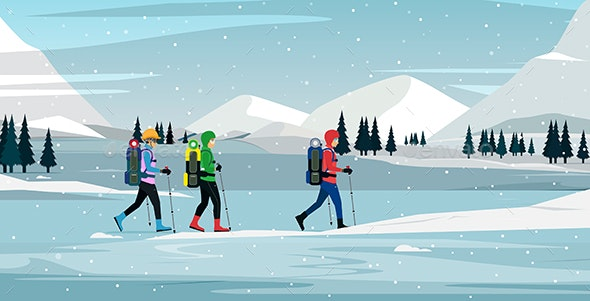 Snow Climber - Sports/Activity Conceptual