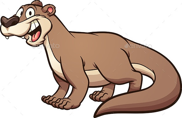 Cartoon Otter - Animals Characters