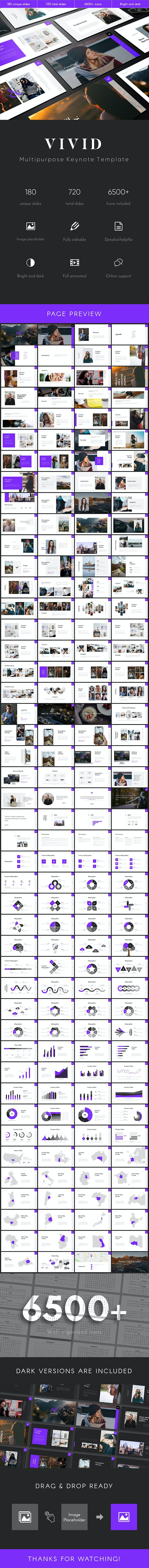 Vivid Multipurpose Keynote Template - Business Keynote Templates