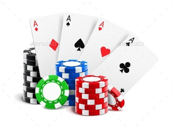 Playing Cards Near Stack of Casino Chips - Sports/Activity Conceptual