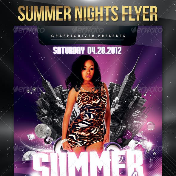 Summer Nights Flyer Template