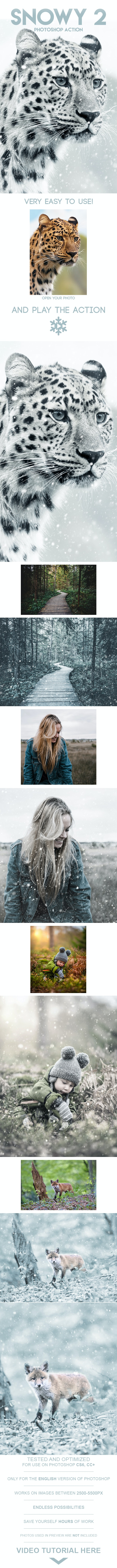 Snowy 2 Photoshop Action - Photo Effects Actions