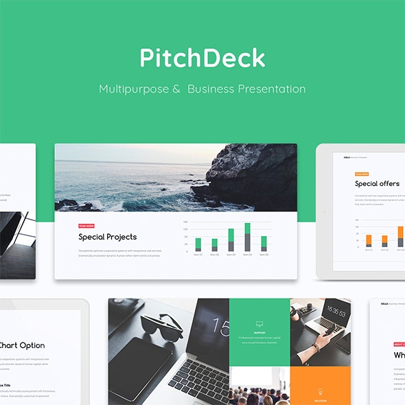 Cella - Business & PitchDeck Template (Google Slide) - Google Slides Presentation Templates