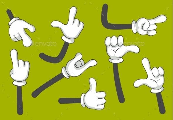 Cartoon Hands - Miscellaneous Vectors