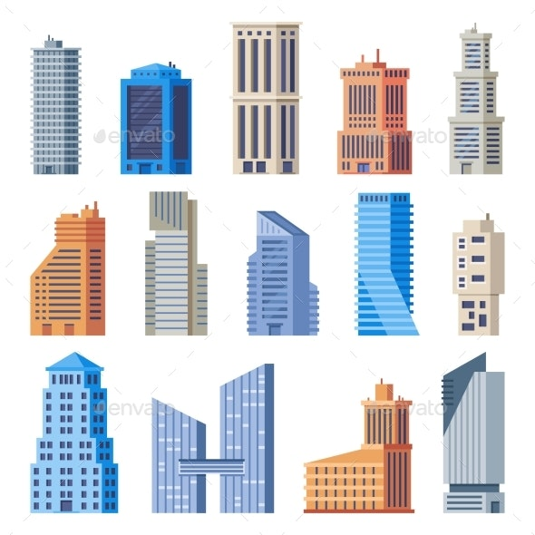 City Office Buildings - Buildings Objects