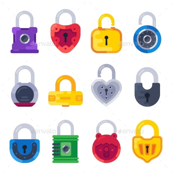 Safety Mechanical Lock - Miscellaneous Vectors