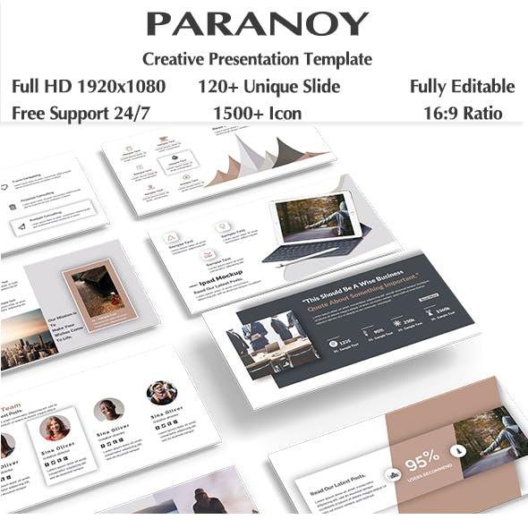 Paranoy Creative Keynote Template