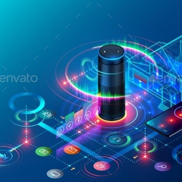 IOT Isometric Technology Concept